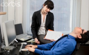 Frustrated Co-workers Collaborating --- Image by © Steve Prezant/Corbis